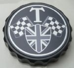 "Bonneville Thruxton T100 & Scrambler. Petrol/Gas Cap: Black GRIP Type. ""T Grand Prix"""